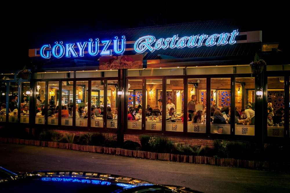 Gokyuzu restaurant for Best private dining rooms edmonton